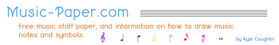 music-paper.com - free blank sheet music and instruction on music notation