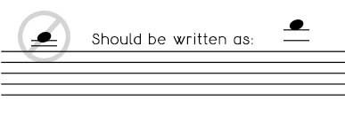 Avoid writing ledger lines that are too close together